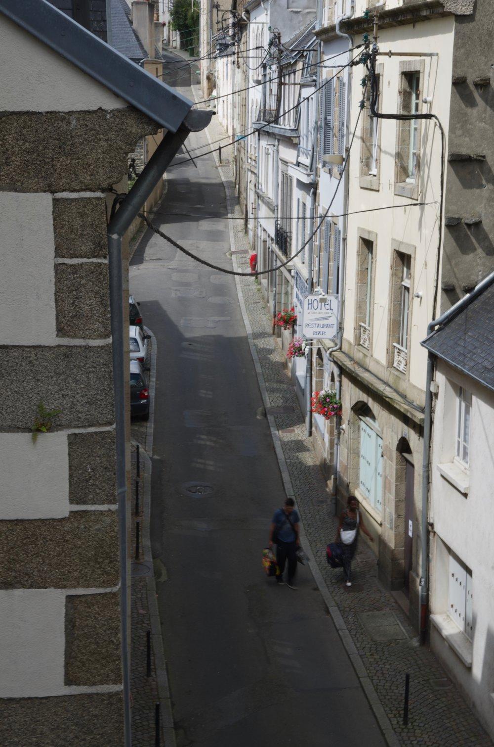 Rue Ange-de-Guernisac, depuis le viaduc, Morlaix