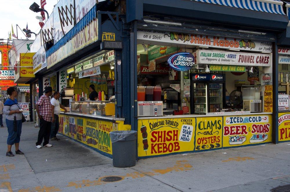 Snack Bar, Surf Avenue, Brooklyn - NYC