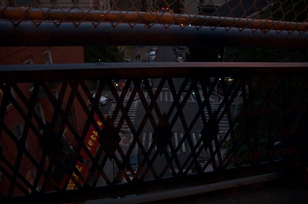 A Glimpse of Madison Street, Manhattan Bridge, Manhattan 1/2 - NYC