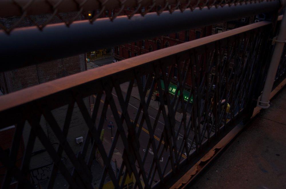 A Glimpse of Madison Street, Manhattan Bridge, Manhattan 2/2 - NYC