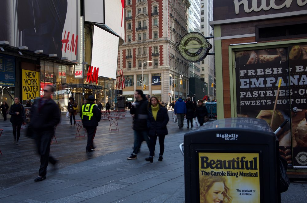 Morning on Times Square, 7th Avenue, Manhattan - NYC