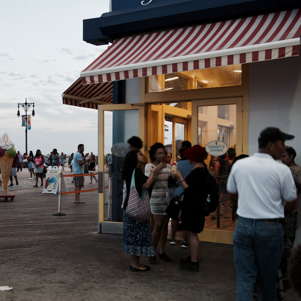 Boardwalk Scene III, Coney Island, Brooklyn