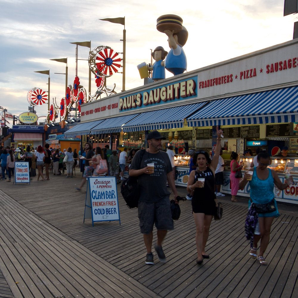 Boardwalk Scene V, Coney Island, Brooklyn