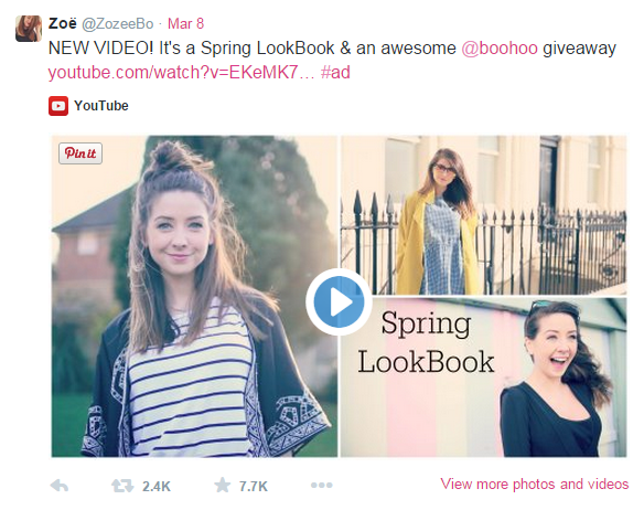 My top picks from Zoella's String LookBook for Boohoo.com