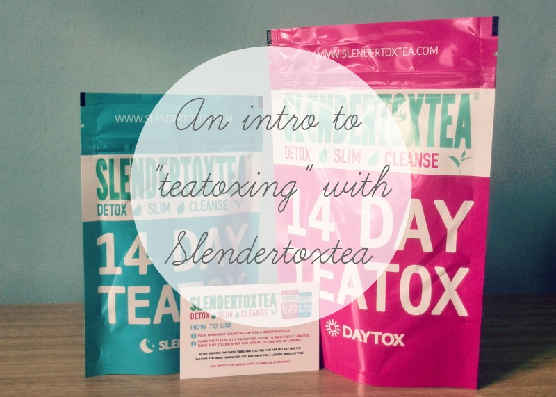 Teatoxing is using a blend of herbs to help cleanse out your body of toxins and fatty buildups which slow down your metabolism. Read more here.