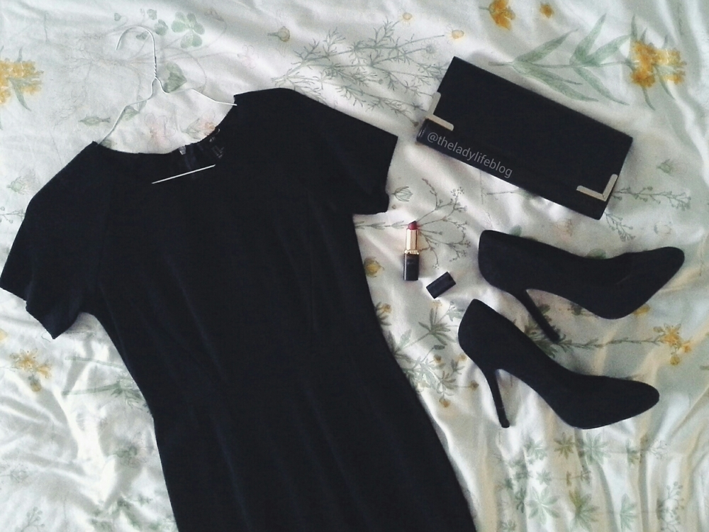 Dress and shoes H&M, Clutch Zara