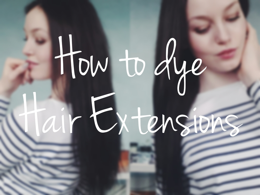 Dying human hair extensions at home