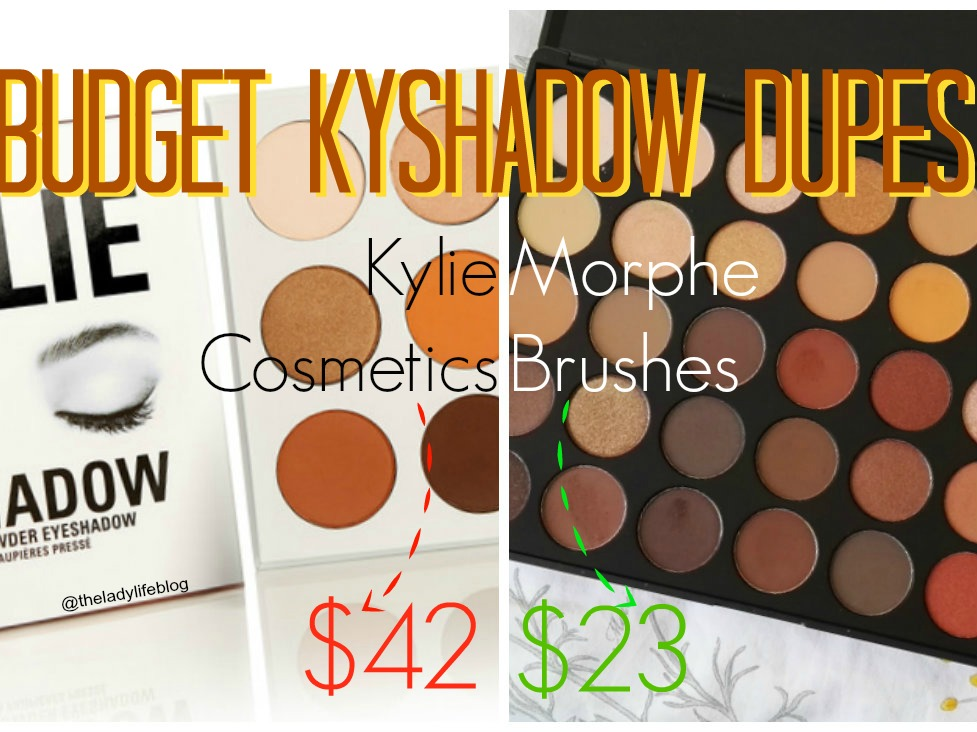 Kylie Jenner Kyshadow the bronze Palette Dupes