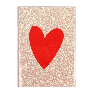 Heart Glitter Notebook