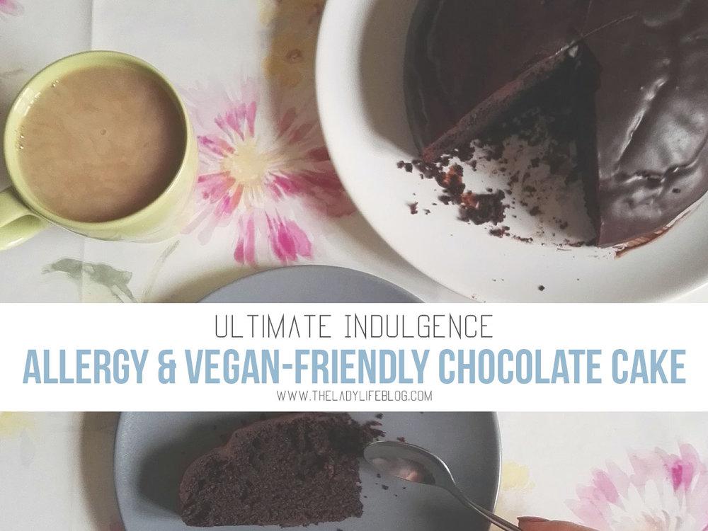 Allergy-safe & Vegan-Friendly Chocolate Cake