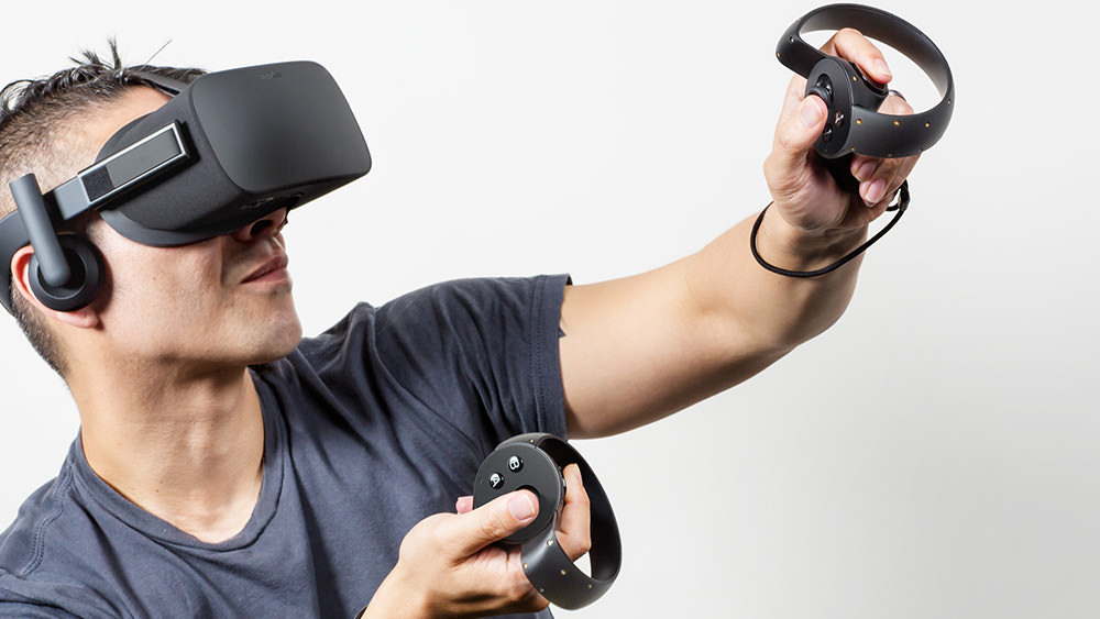 The Oculus Rift consumer version, with Oculus Touch. Click to see Oculus' press conference. Video will start at the Touch reveal