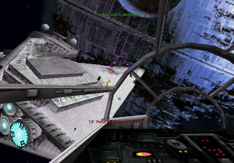 X-Wing Alliance (1999). Fly the  Millennium Falcon against the second  Death Star !