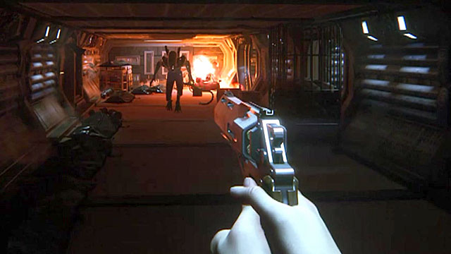 "Alien Isolation wasn't really a shooter. Like my friend Niall said, the pistol is like ""throwing Tic Tacs at the alien"". Evasion was the only way to win."