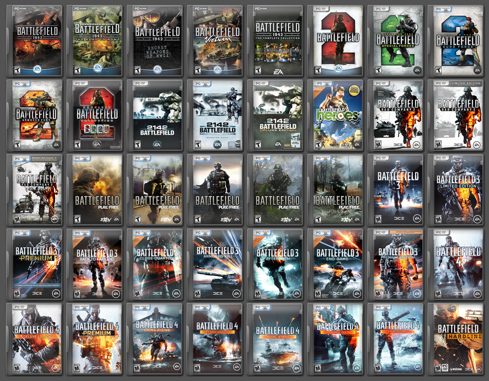 If you open your Origin library, most expansions and premium editions are listed separately. Battlefield 1 doesn't even fit in the first 40 icons.