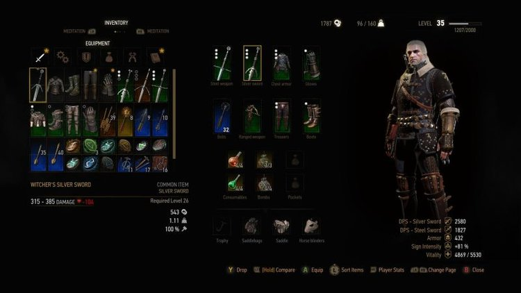 Best Witcher  New Game Plus Build