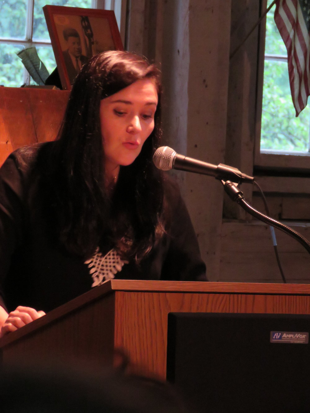 Frost Farm Prize Winner Caitlin Doyle Reads for the Crowd