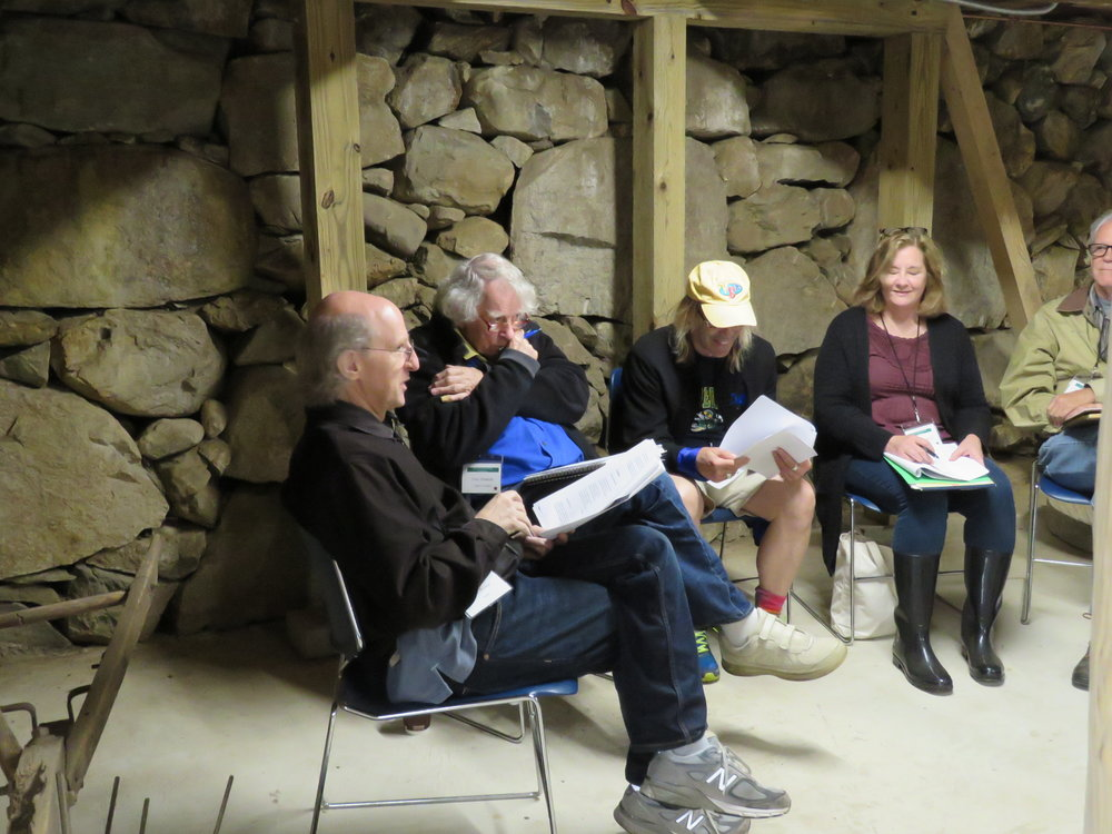 Dan Brown Holds a Workshop in Frost's Barn