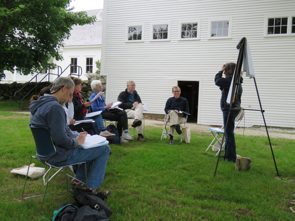 Midge Goldberg Holds her Workshop by the Barn