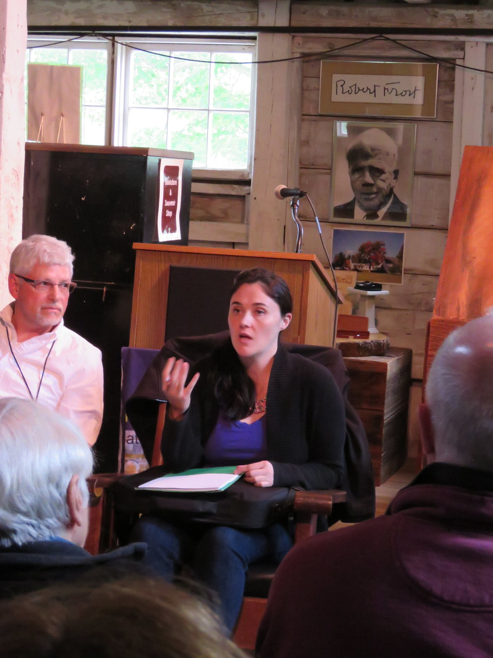 Caitlin Doyle Shares Some Publishing Tips While Frost Looks On