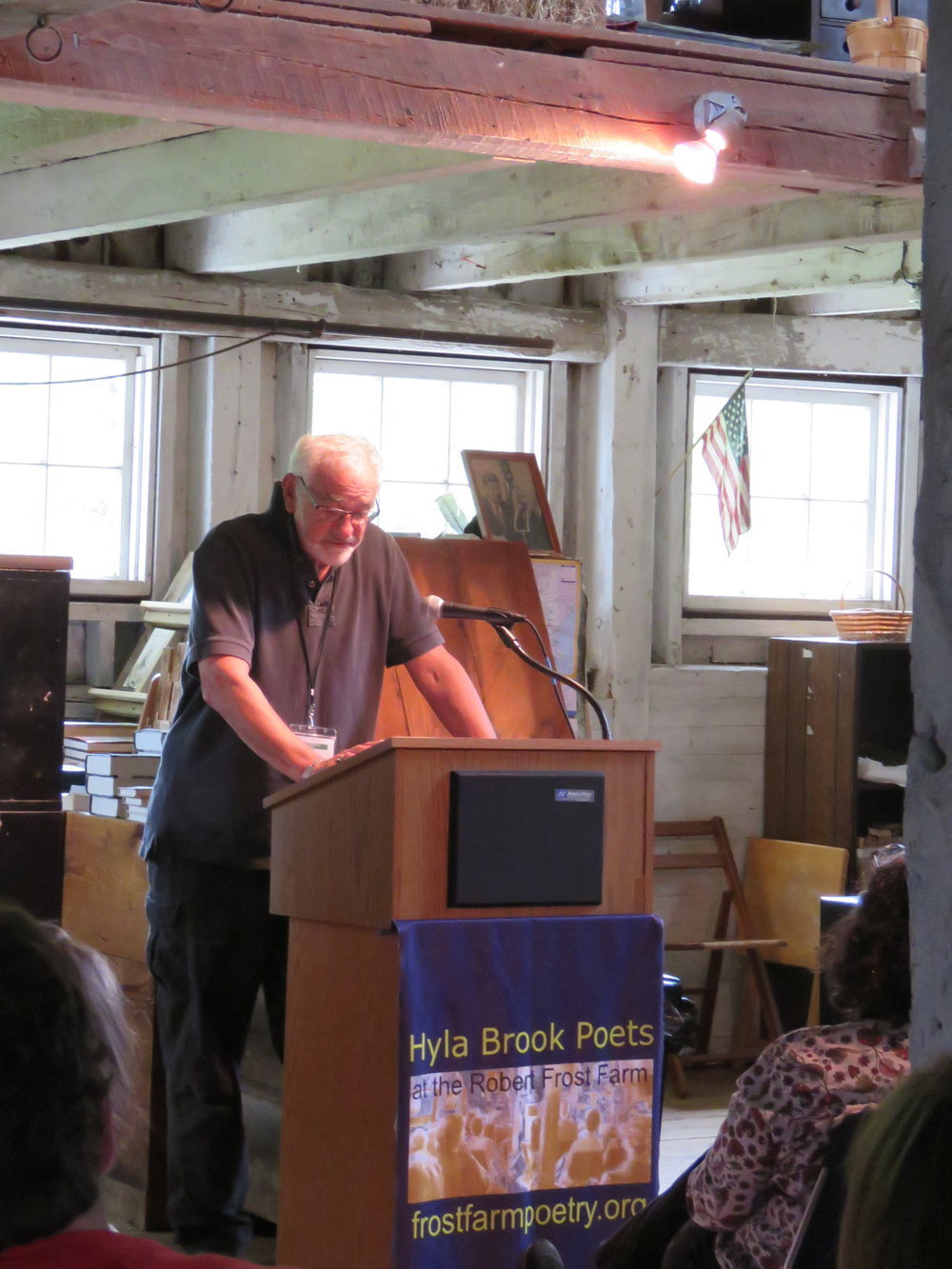 Micheal Cantor at the Particpant Reading
