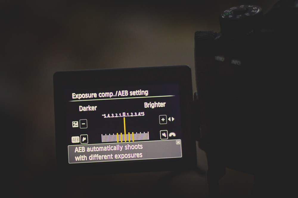 Auto-Exposure Bracketing: This setting tells your camera to take multiple photos in rapid succession with varying exposures at specified intervals.