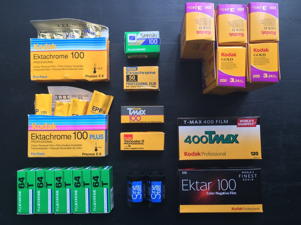 My stash of expired film from eBay and regular film order from B&H arrived at the same time.