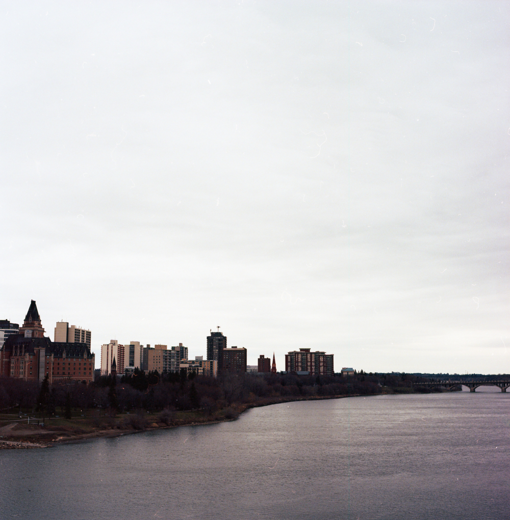 The view from Broadway Bridge in Saskatoon, Saskatchewan.| Hasselblad 500CM / Portra 160 @ 640