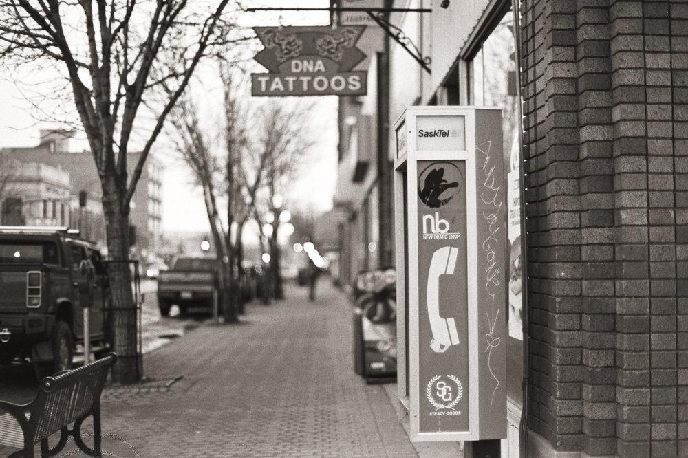 Main Street - Moose Jaw, Saskatchewan | Nikon FM3A + Nikkor 50/1.2 | Fuji Neopan 400