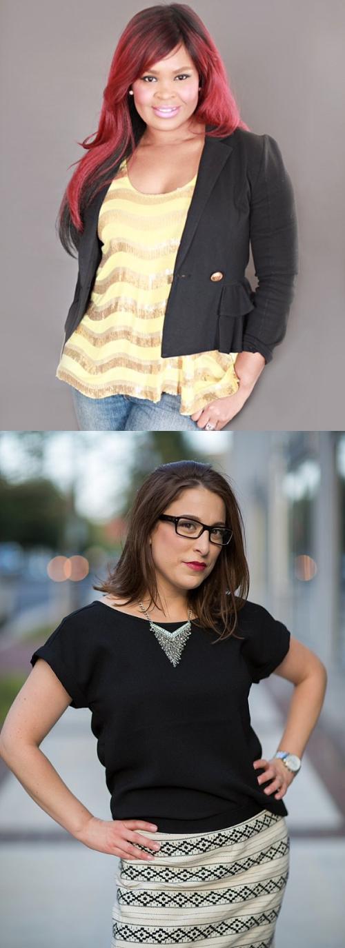 Ky Washington (top left) and Suzanne Eden (bottom left)
