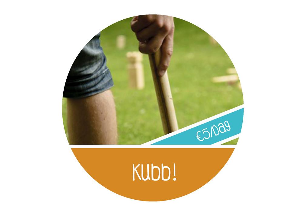 Buitenspel Kubb huren goedkoop