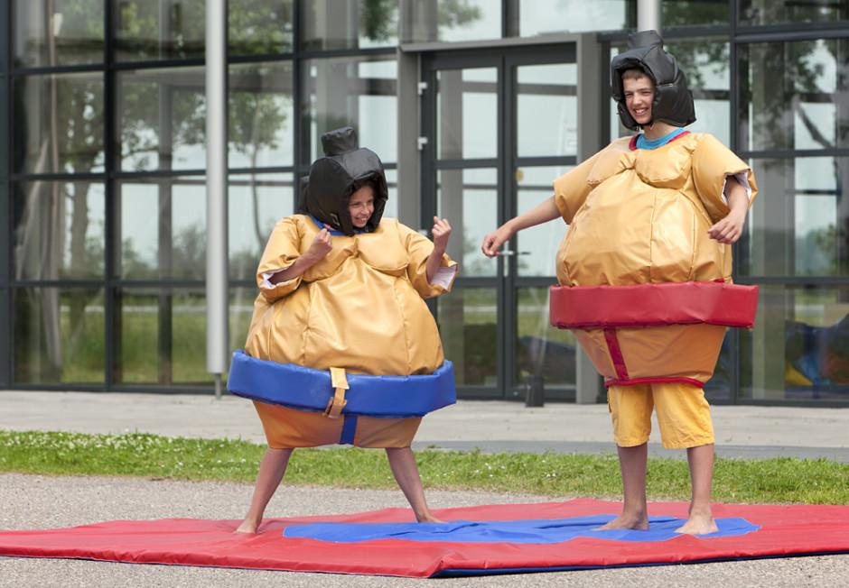 sumopakken kids kinderen sumopak huur xl game huren Antwerpen