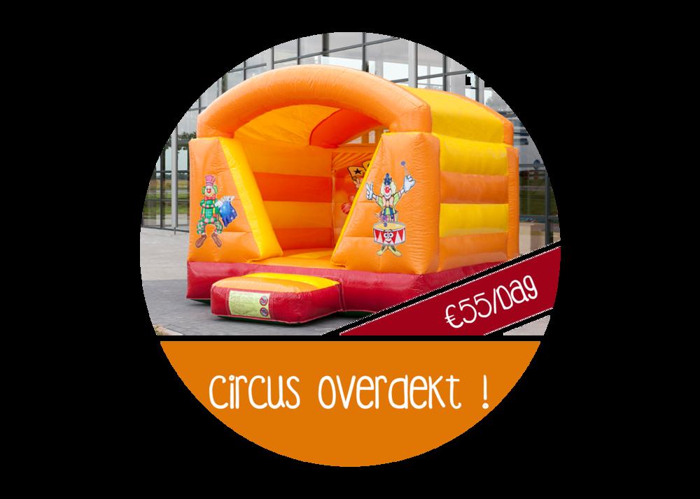 springkasteel circus goedkoop huren