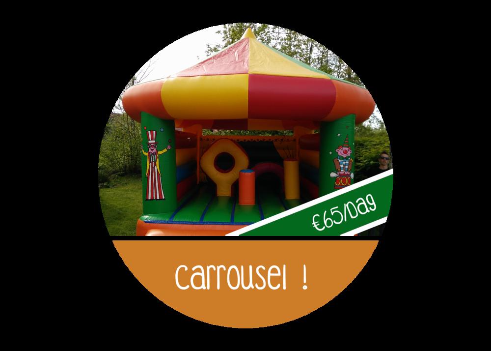 Springkasteel carroussel huren