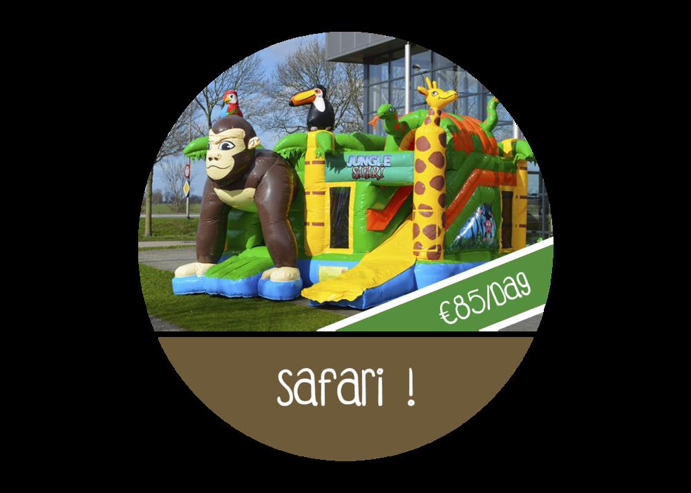 Springkasteel safari jungle aap huren lint kontich aartselaar boom schelle