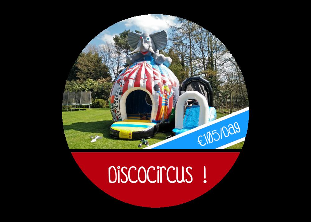 Springkasteel Disco Circus discospringkasteel huren huur attractie antwerpen beveren burcht melsele schilde brasschaat springkussen