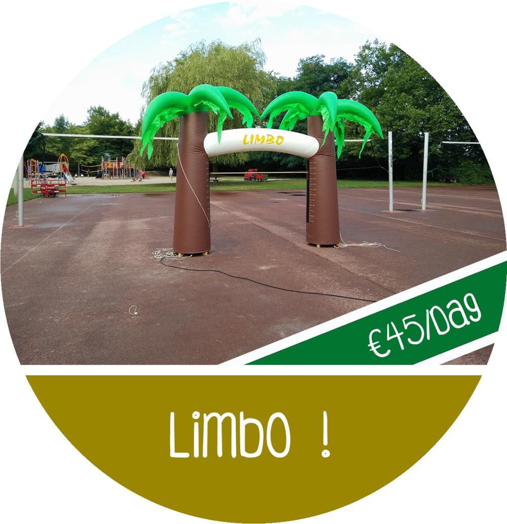 Limbo attractie huren limbo dansen opblaasbaar