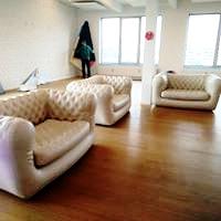 lounge zetel wit huren