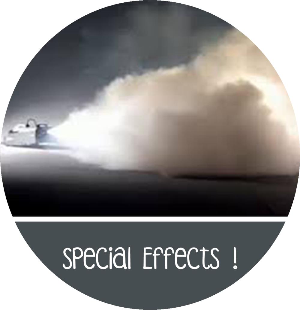 special effects feestje rookmachine sneeuwkanon huren
