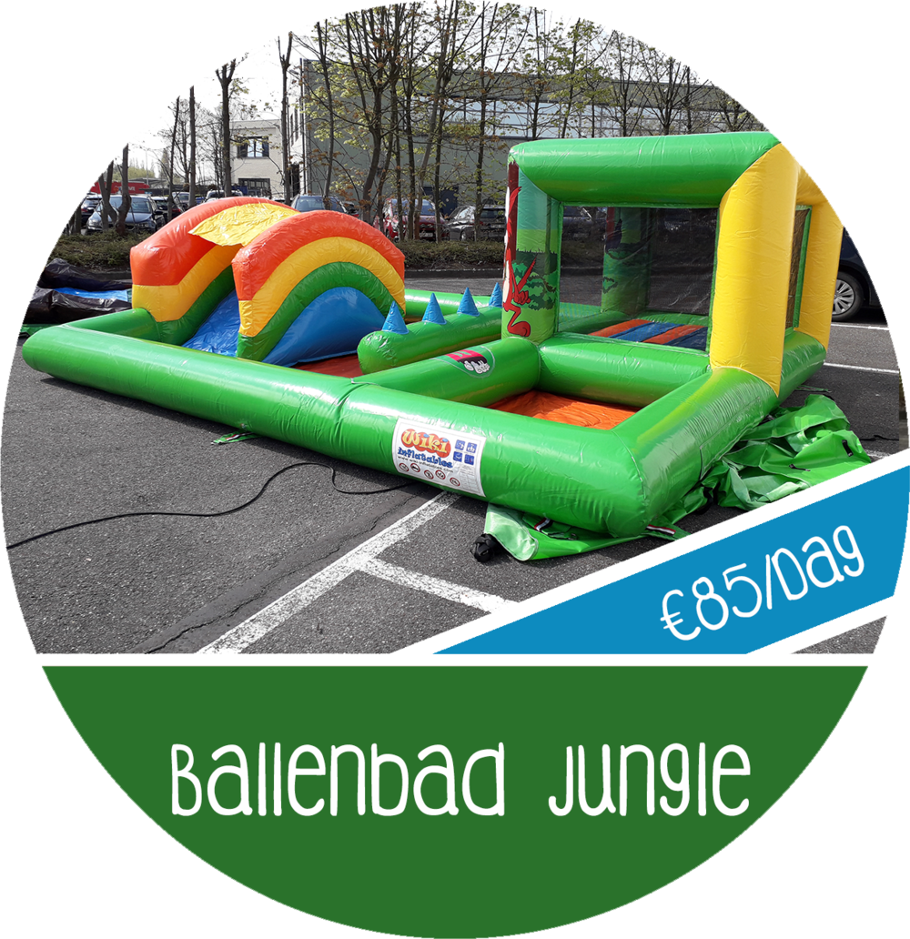 springkasteel jungle ballenbad huren verhuur