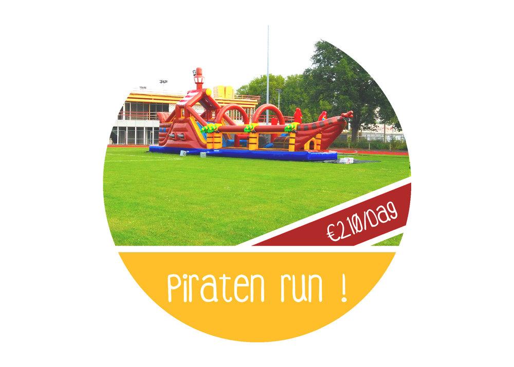 Piratenrun+huren+stormbaan++springkasteel+piraat