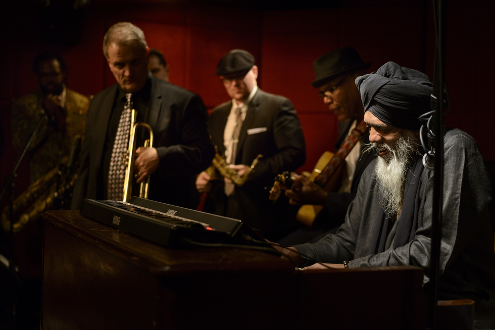 With Dr Lonnie Smith Octet at the Jazz Standard, 2014. Photo by  Jacob Blickenstaff