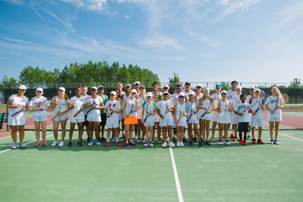 "Our annual Academy players group photo - week #4 summer tennis camp ""Wimbledon Week"""