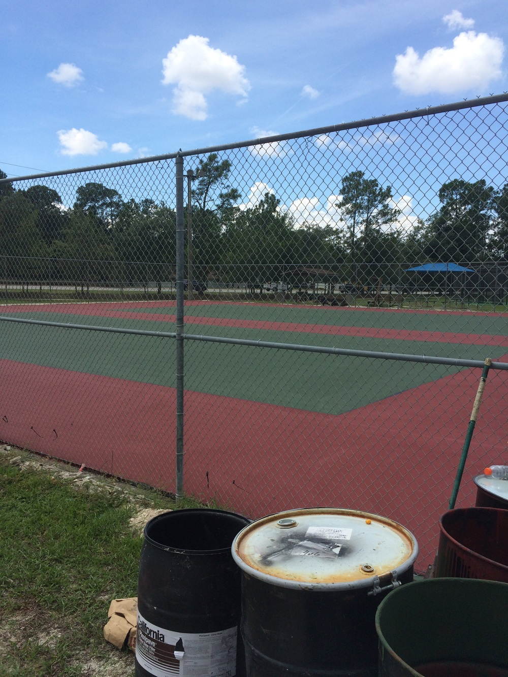 Courts are being painted!