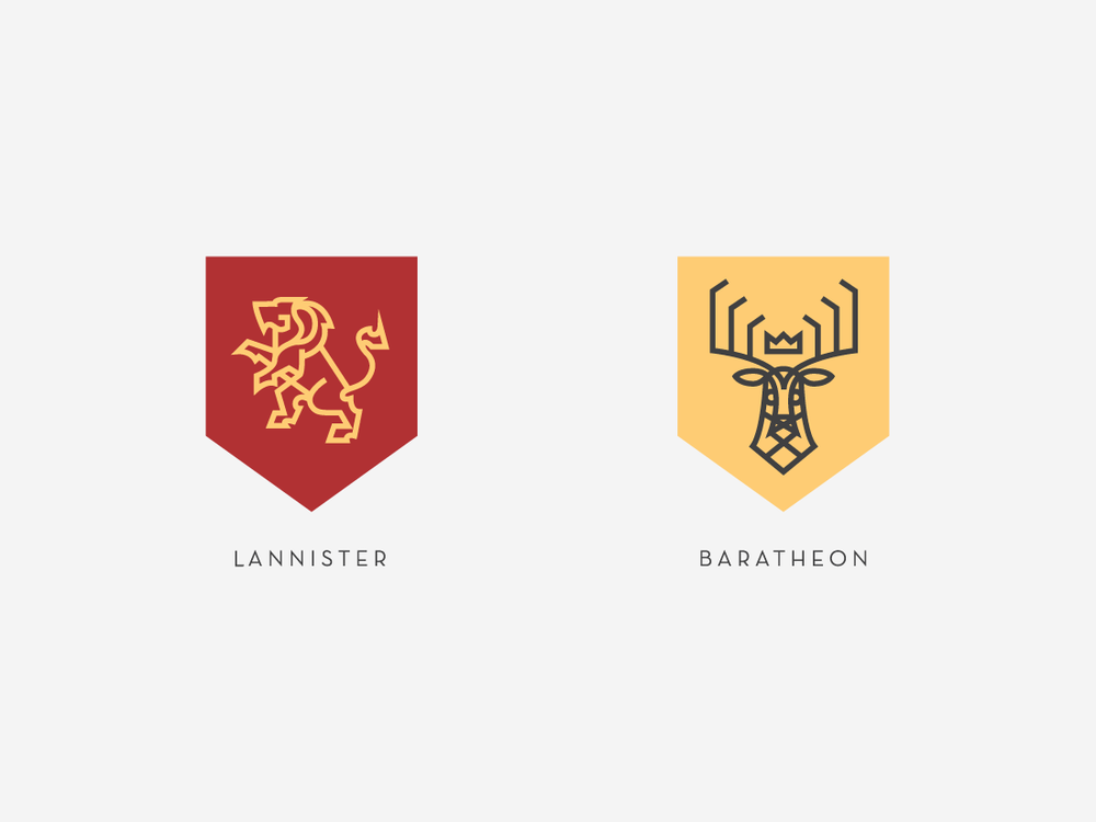 Sigils Of The Houses Of Westeros Darrin Crescenzi