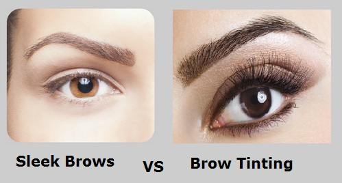 sleek brows vs brow tinting highbrow beauty eyelash extensions