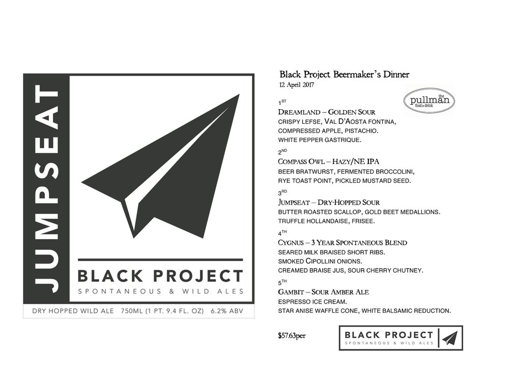 Black Project Beer Alemaker's Dinner