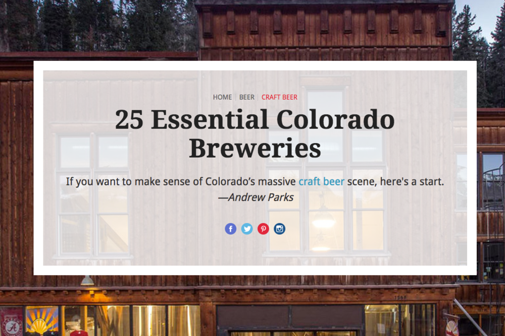 25 Essential Colorado Breweries