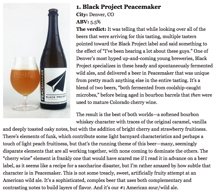 Black Project Spontaneous & Wild Ales - PEACEMAKER