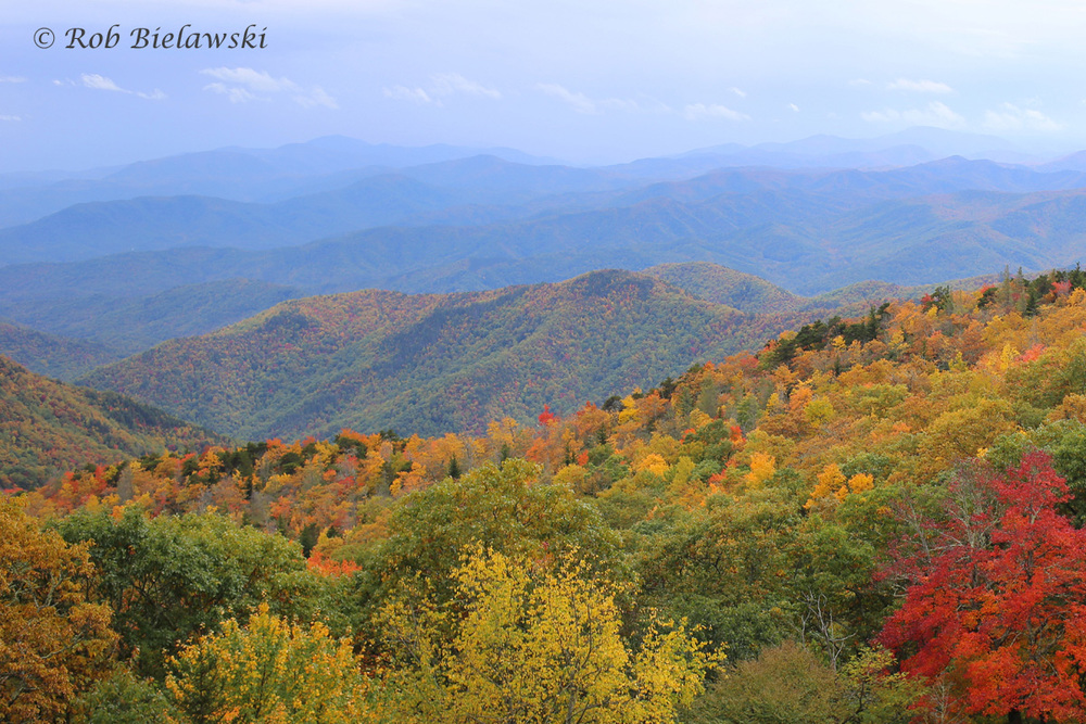 The view from the Blue Ridge Parkway just east of Mount Mitchell State Park.