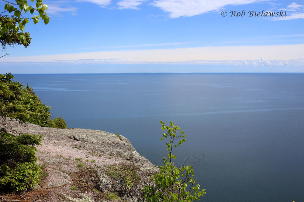 The view across Lake Superior towards Wisconsin from Shovel Point at Tettegouche State Park.